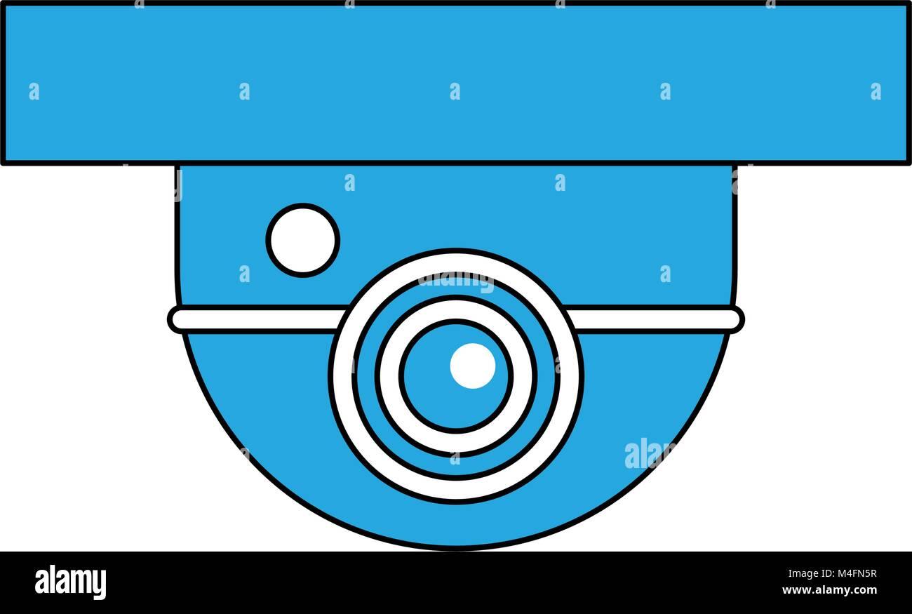 Surveillance camera symbol - Stock Image