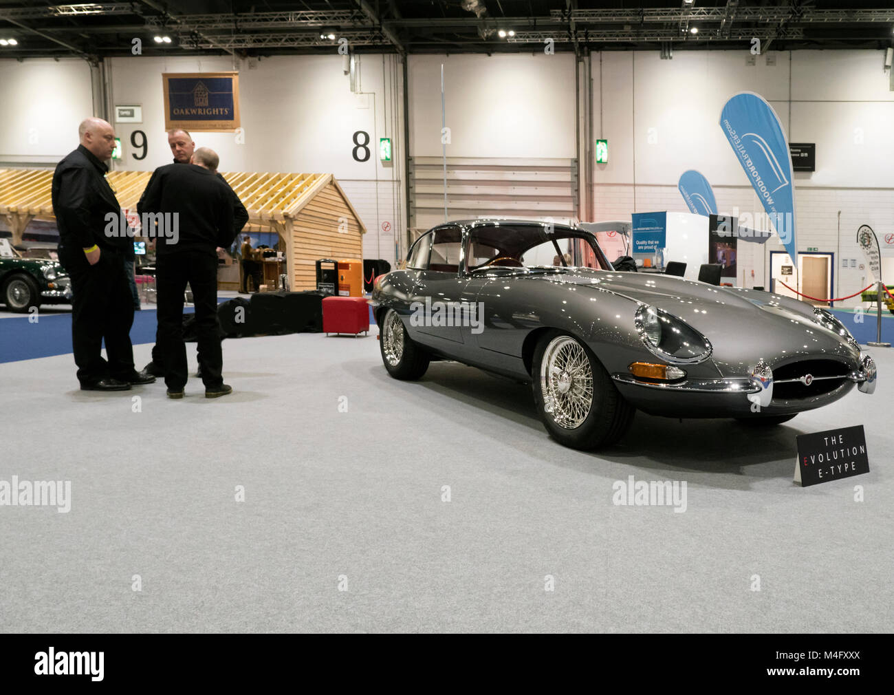 London Uk 15th Febraury 2018 Electric Evolution E Type Jaguar