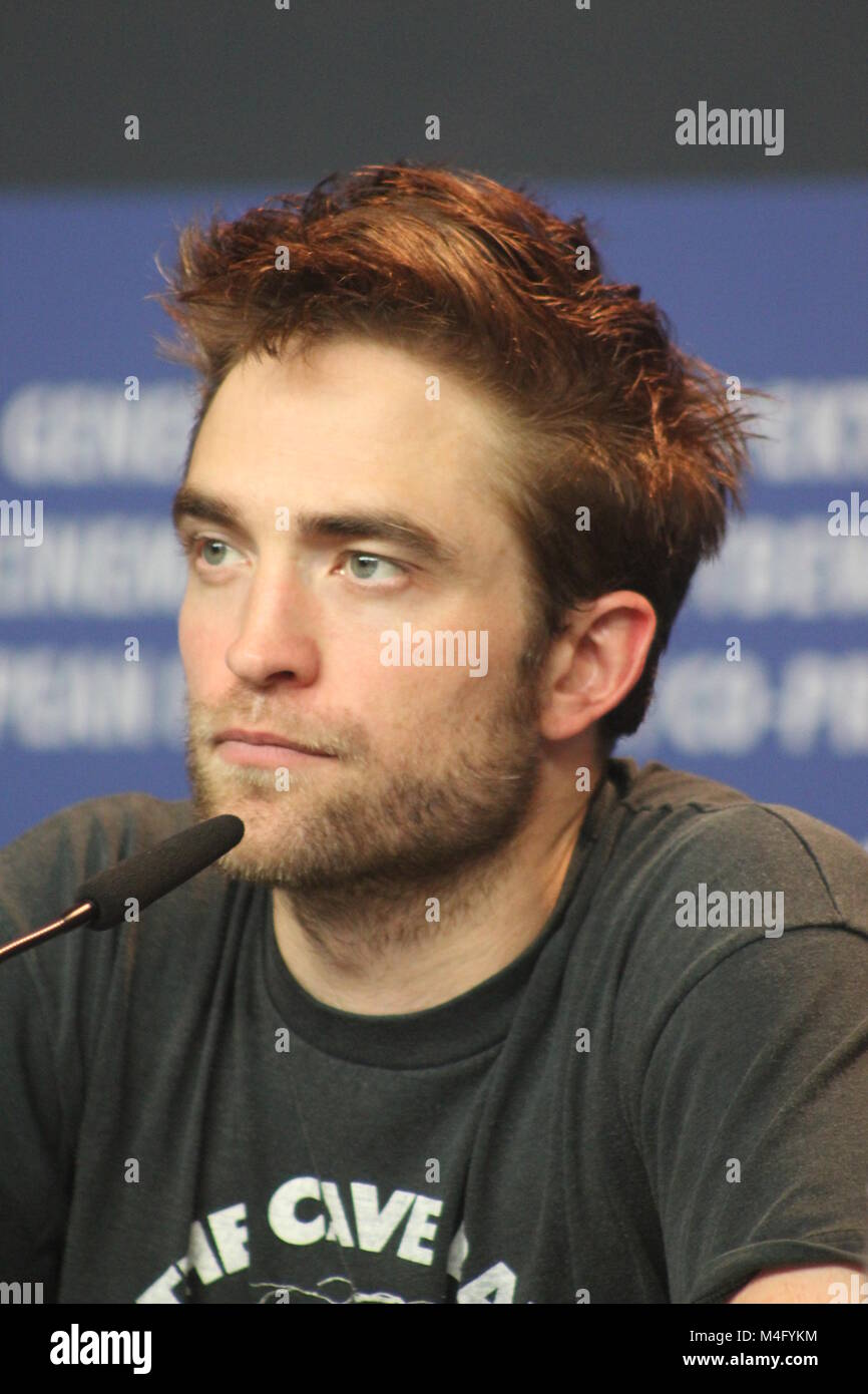 """Press conference at the Grand Hyatt Hotel in Berlin/Germany for """"Damsel"""" by 68th BERLINALE (International Film Festival.) - Stock Image"""