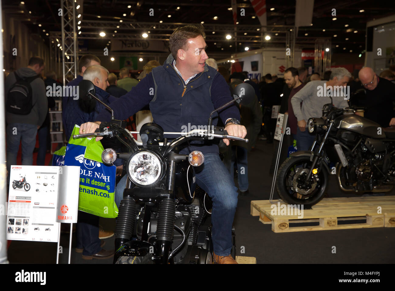 London, UK. 16th Feb, 2018. The Carole Nash MCN London Motorcycle Show at Excel opened today. There is everything - Stock Image