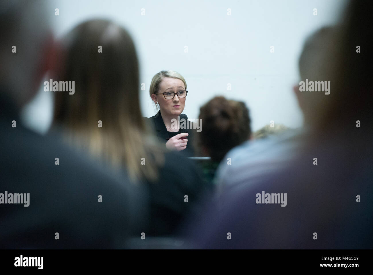 Manchester, UK. 16th February, 2018. Rebecca Long-Bailey MP, Member of Parliament for Salford and Eccles and shadow Stock Photo