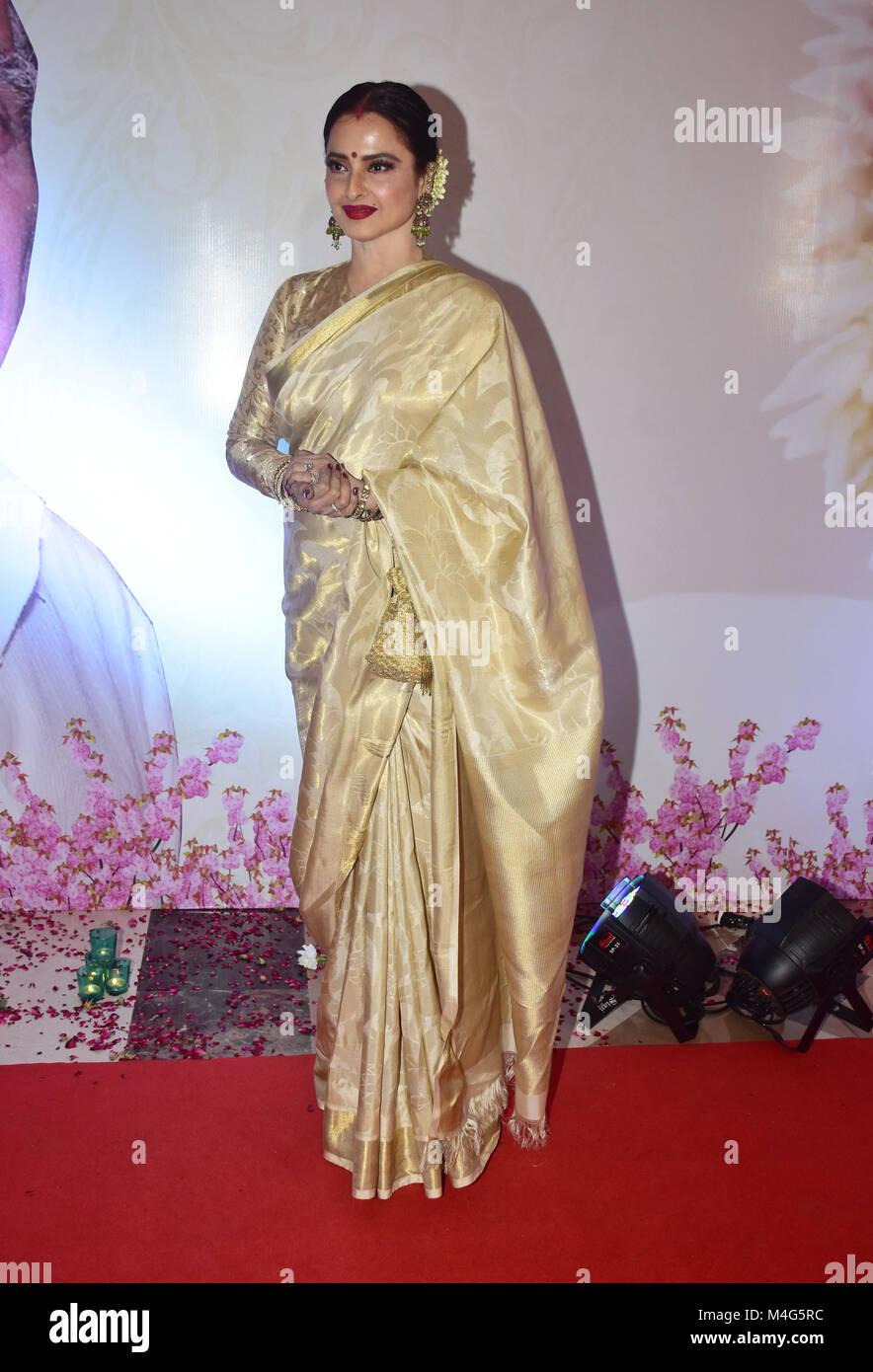Mumbai, India  16th Feb, 2018  Indian actress Rekha present