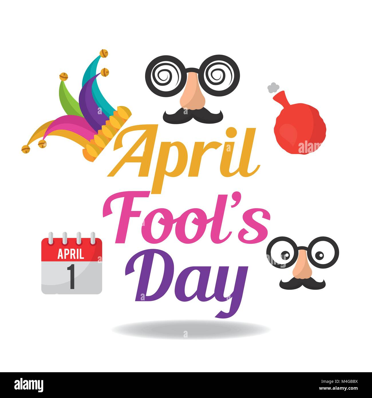 april fools day collection decoration icons Stock Vector Image & Art - Alamy