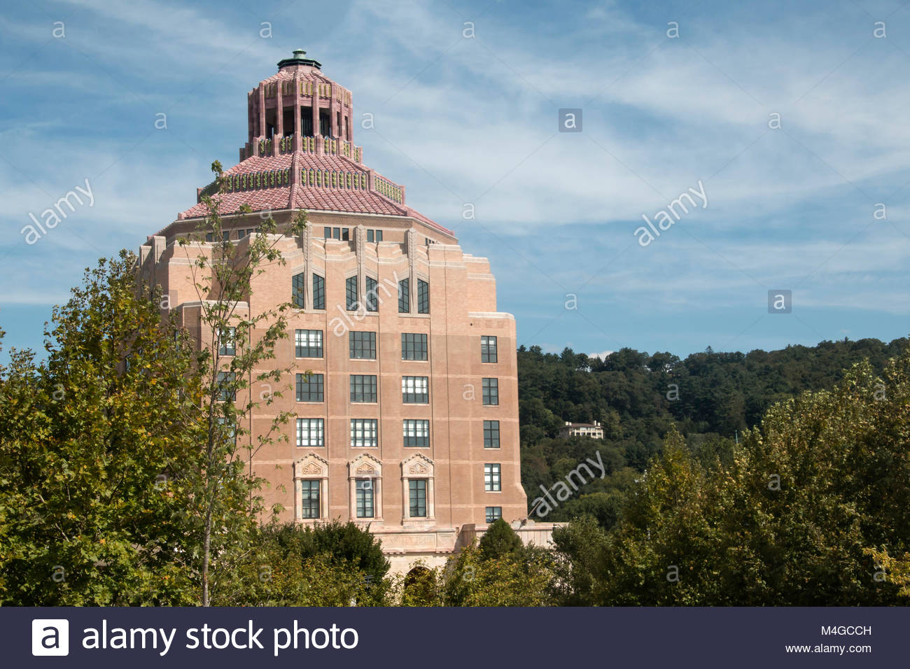 City Hall in Downtown Asheville, North Carolina - Stock Image