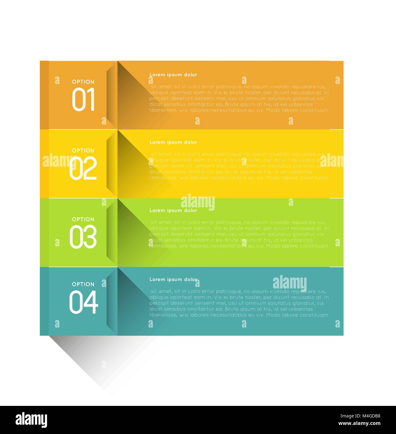 set of horizontal infographic option banners Stock Vector
