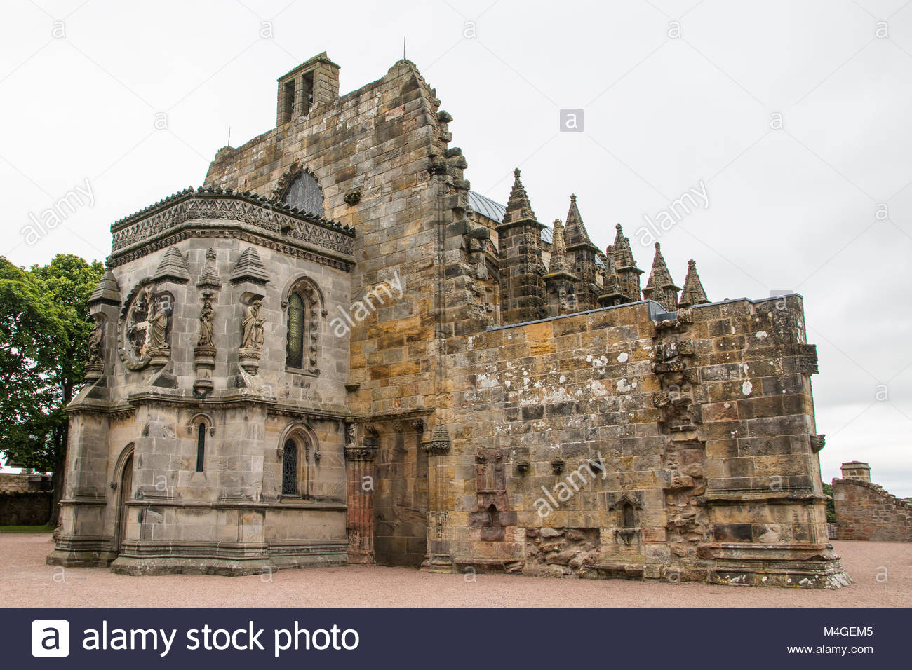 Roslyn Chapel from the Da Vinci Code, British Isles - Stock Image