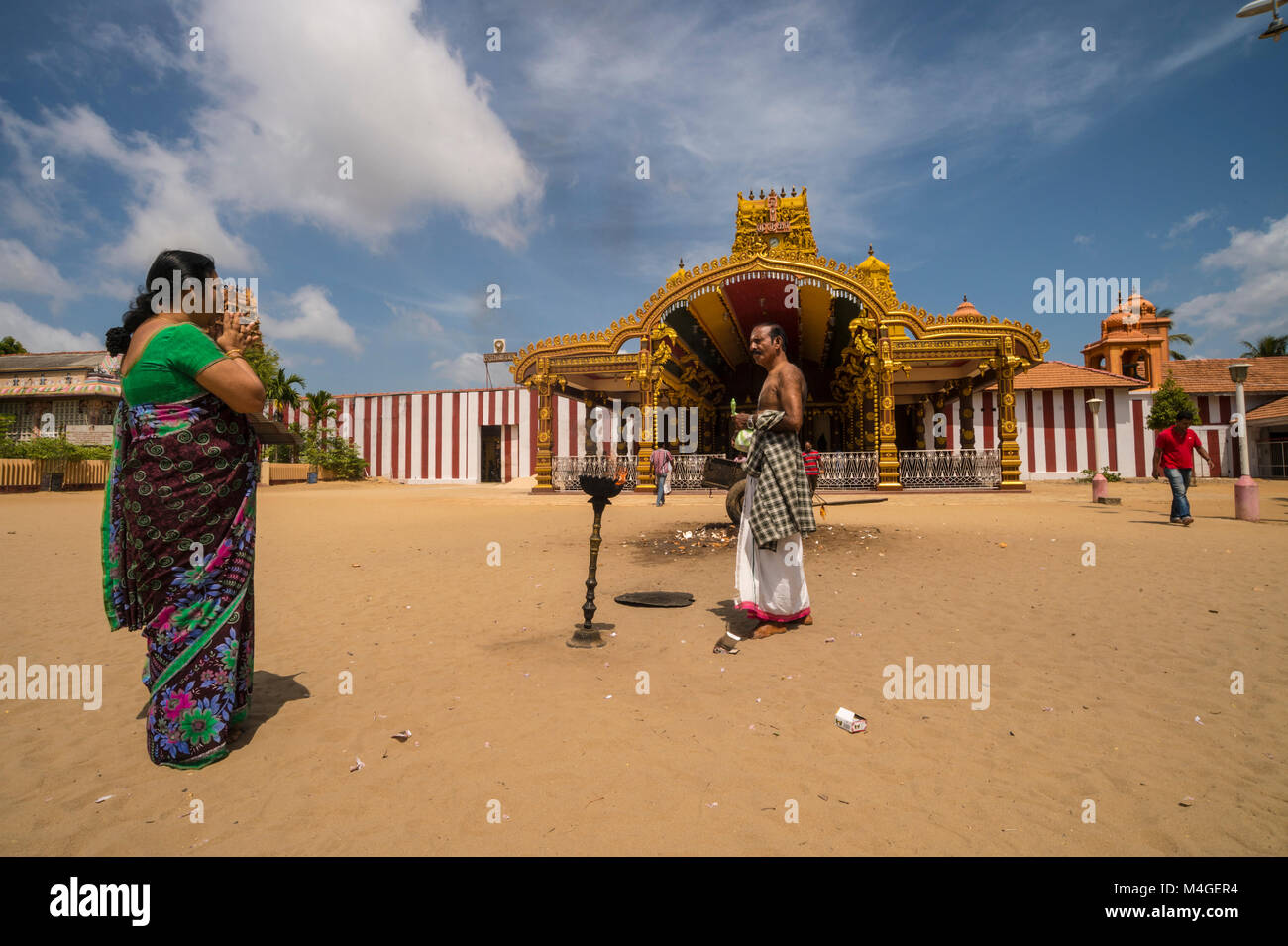 asia,srilanka,jaffna,Nallur Kandaswamy temple Stock Photo