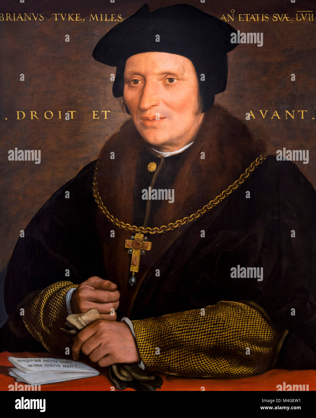 Sir Brian Tuke, Hans Holbein the Younger, circa 152-1534, National Gallery of Art, Washington DC, USA, North America - Stock Image