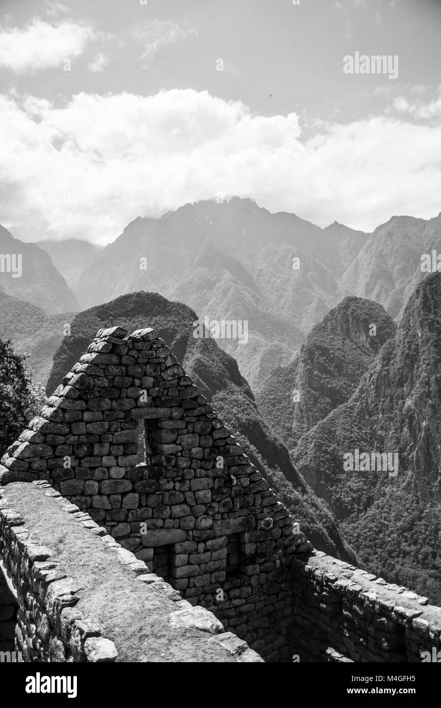 Ruins of MachuPicchu city, Peru - Stock Image