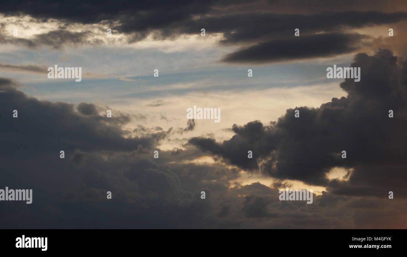 clouds opening Central Kalahari Game Reserve Botswana - Stock Image
