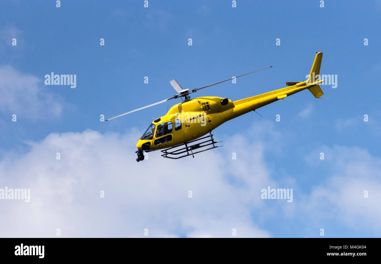 Broadcast helicopter - Stock Image