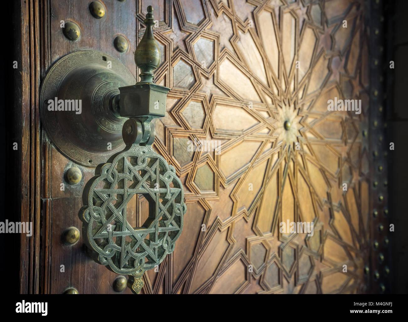 Ancient moroccan doors - Stock Image - Antique Moroccan Doors Stock Photos & Antique Moroccan Doors Stock