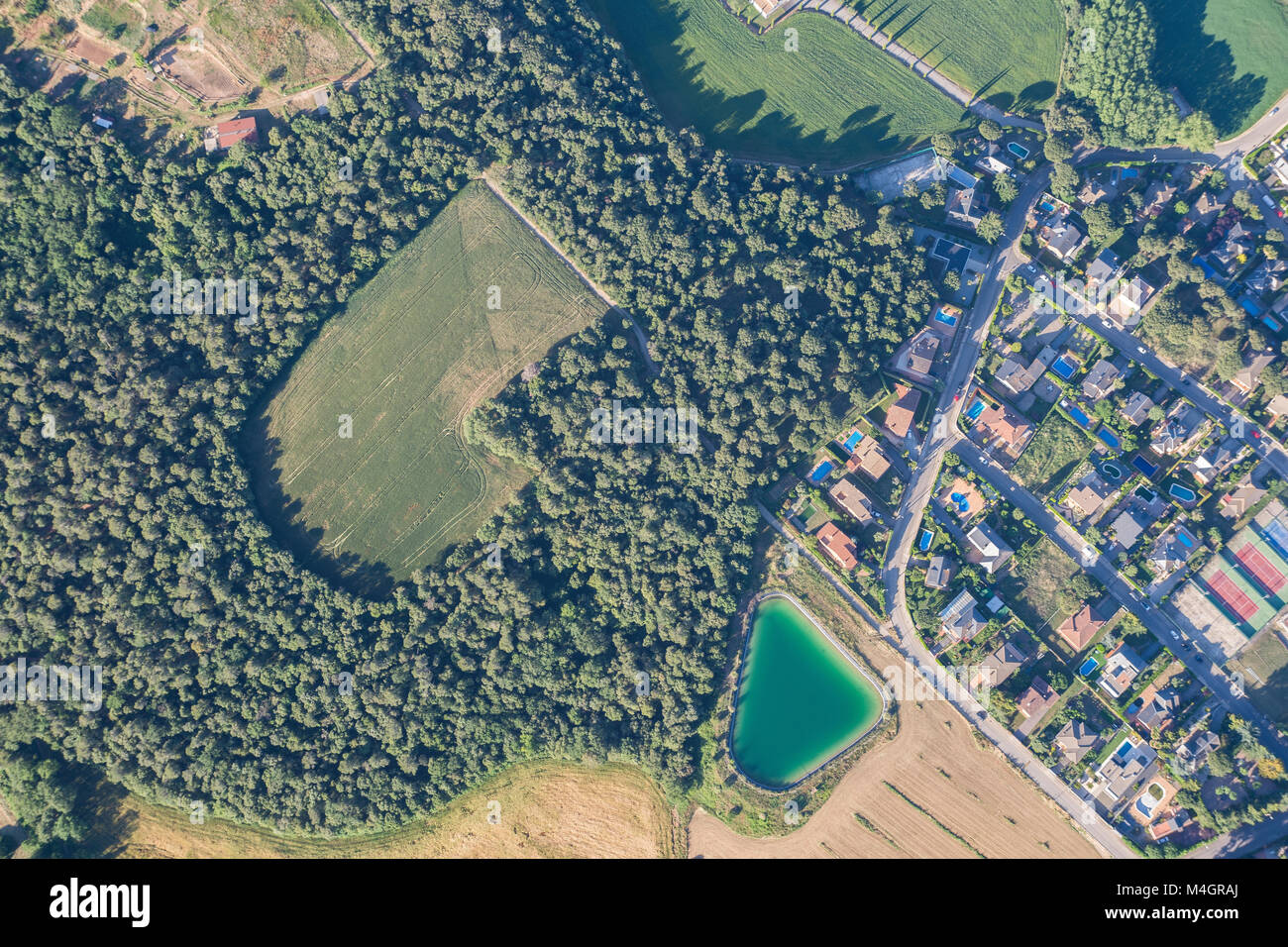 Aerial photography taken in Cardedeu, Catalonia (Spain) - Stock Image