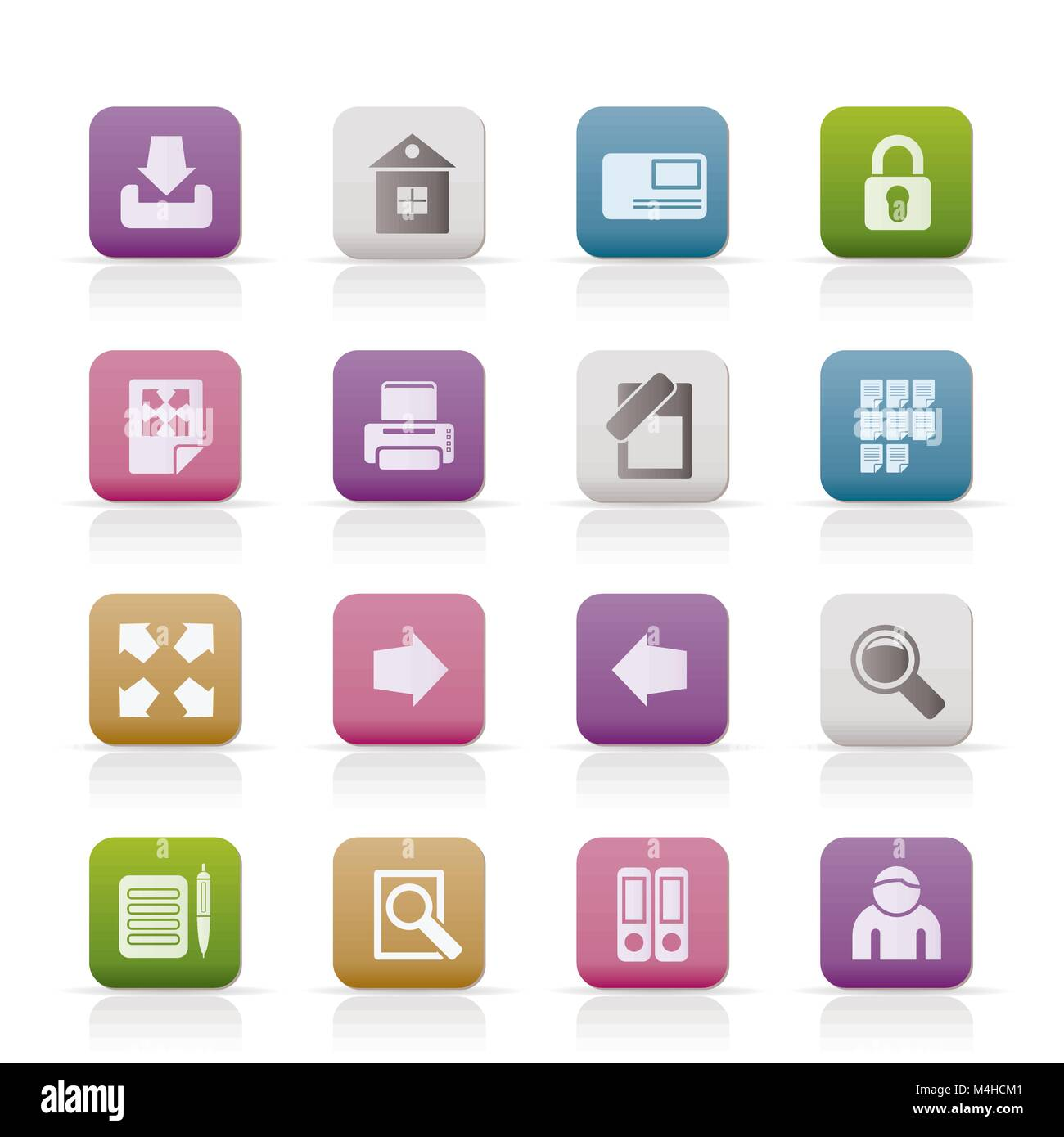 Internet and Web Site Icons - Vector Icon Set - Stock Image