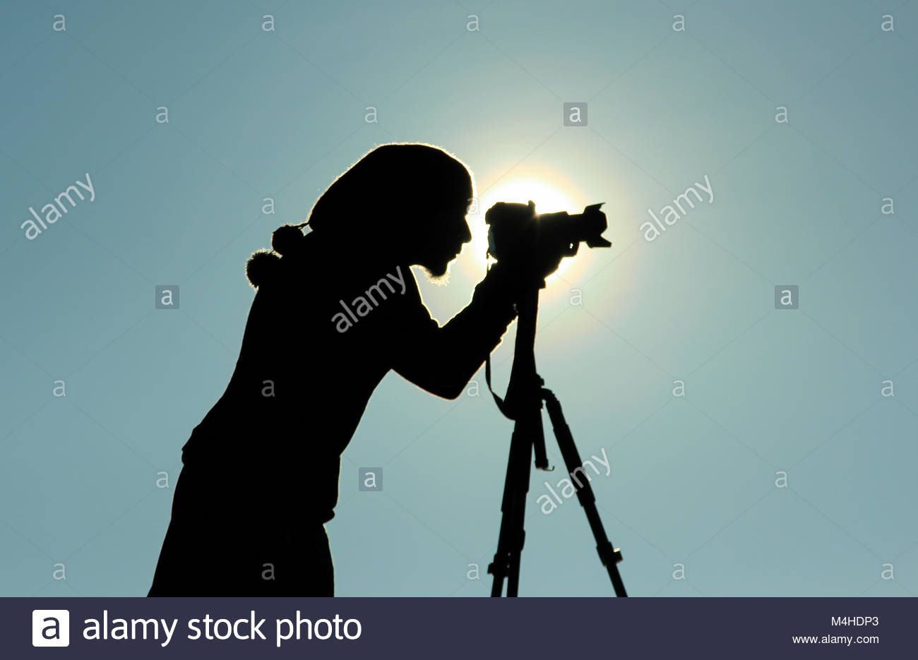 take spontaneous pictures - Stock Image