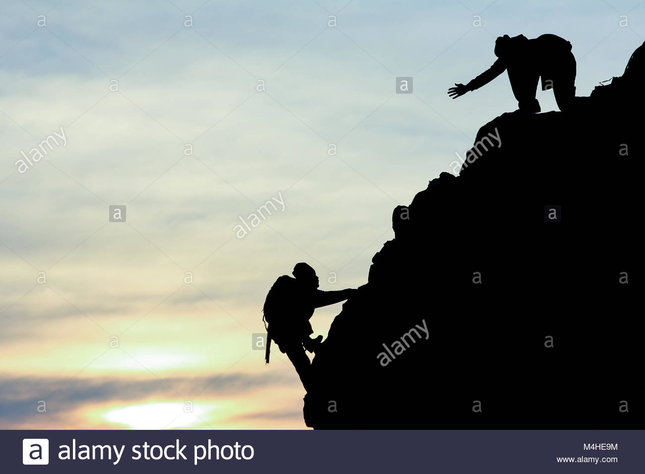 mountaineering help and support - Stock Image