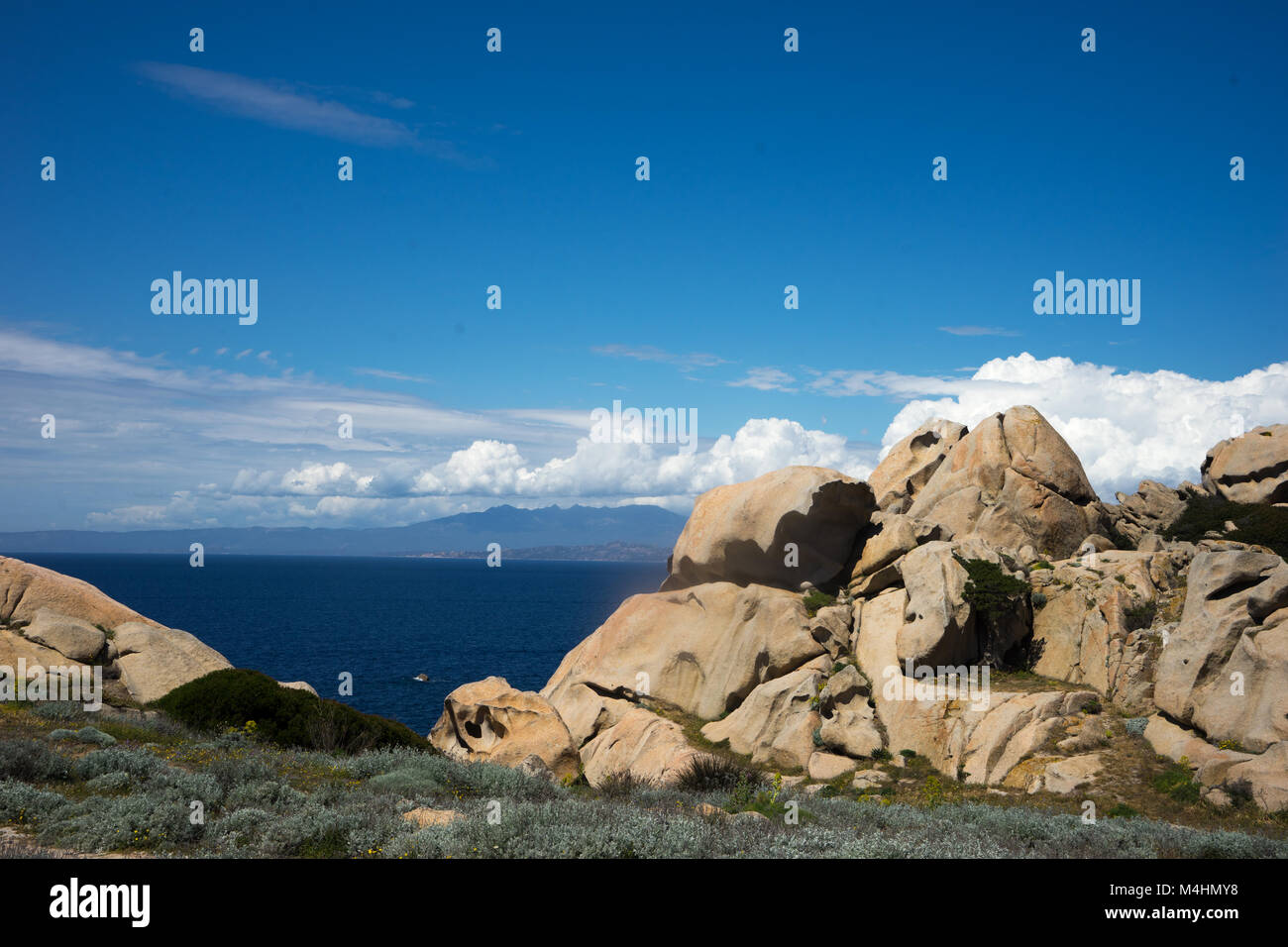 Capo Testa Stock Photo