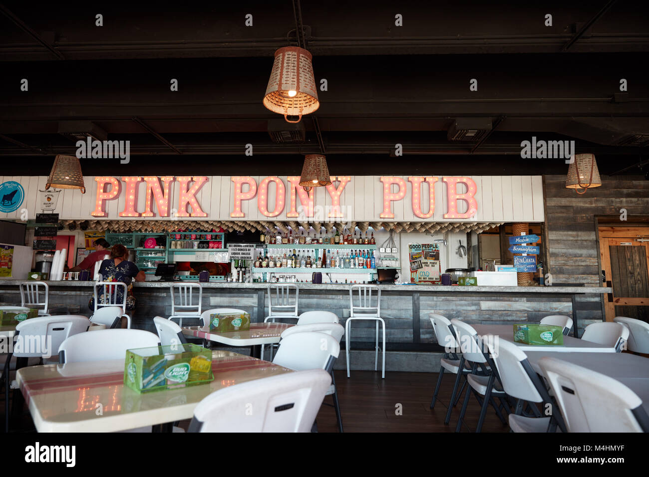 Interior of the Pink Pony Pub in Gulf Shores, Alabama Stock Photo