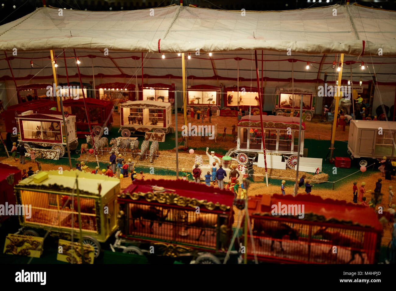 Inside the tents of Howard Tibbalu0027s miniature circus display & Inside the tents of Howard Tibbalu0027s miniature circus display Stock ...