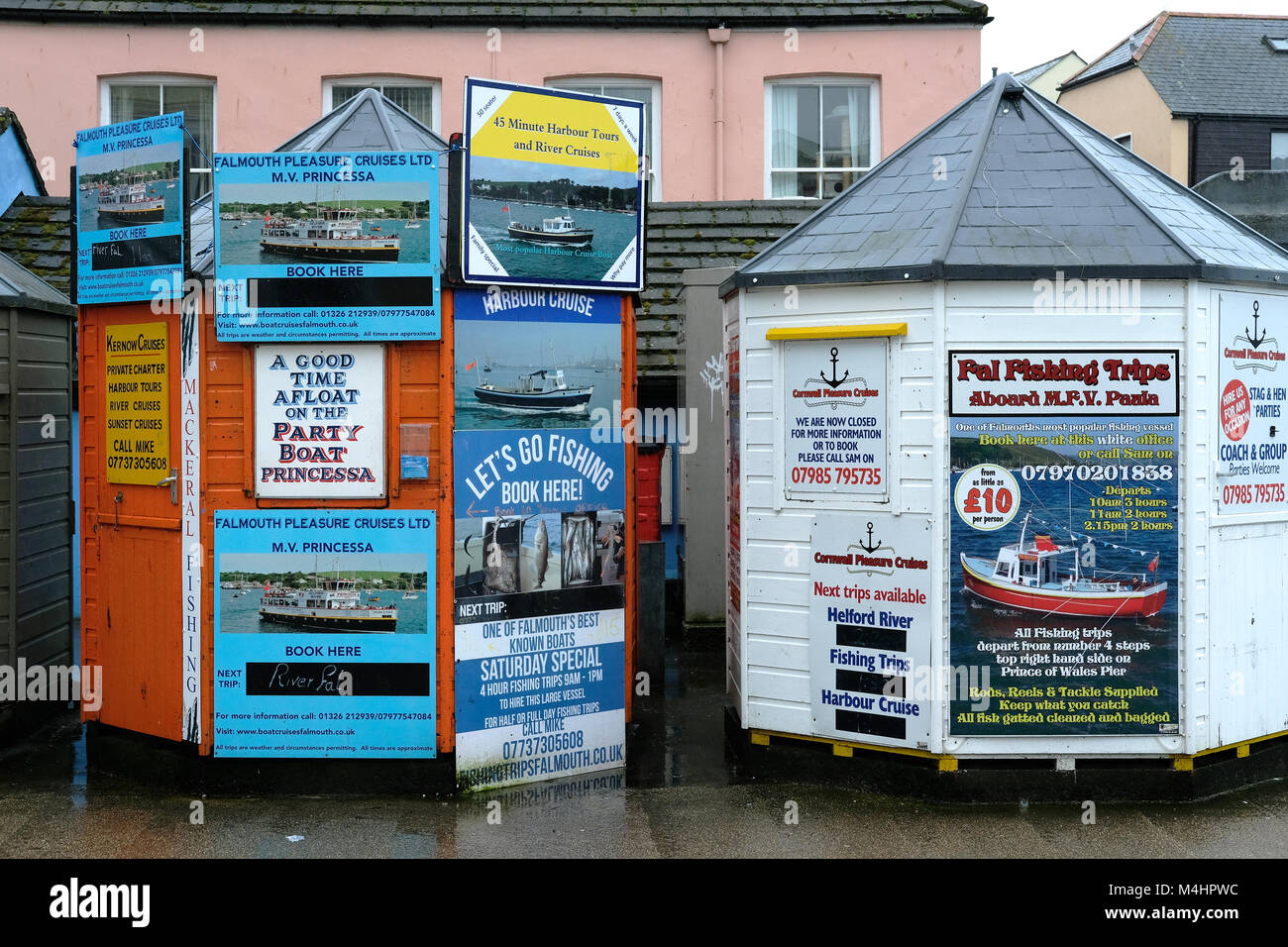 Out of season Cornish town - Stock Image
