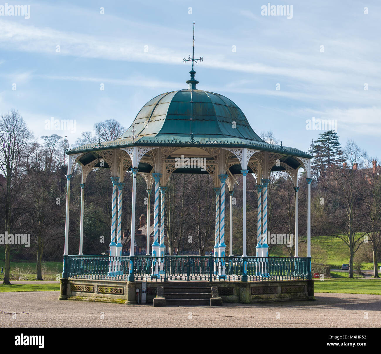 An old bandstand in the heart of The Quarry in Shrewsbury, UK - Stock Image