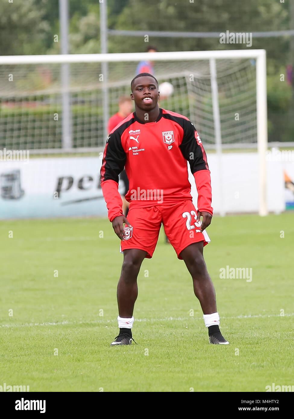 Braydon Manu  (Hallescher FC) - Stock Image