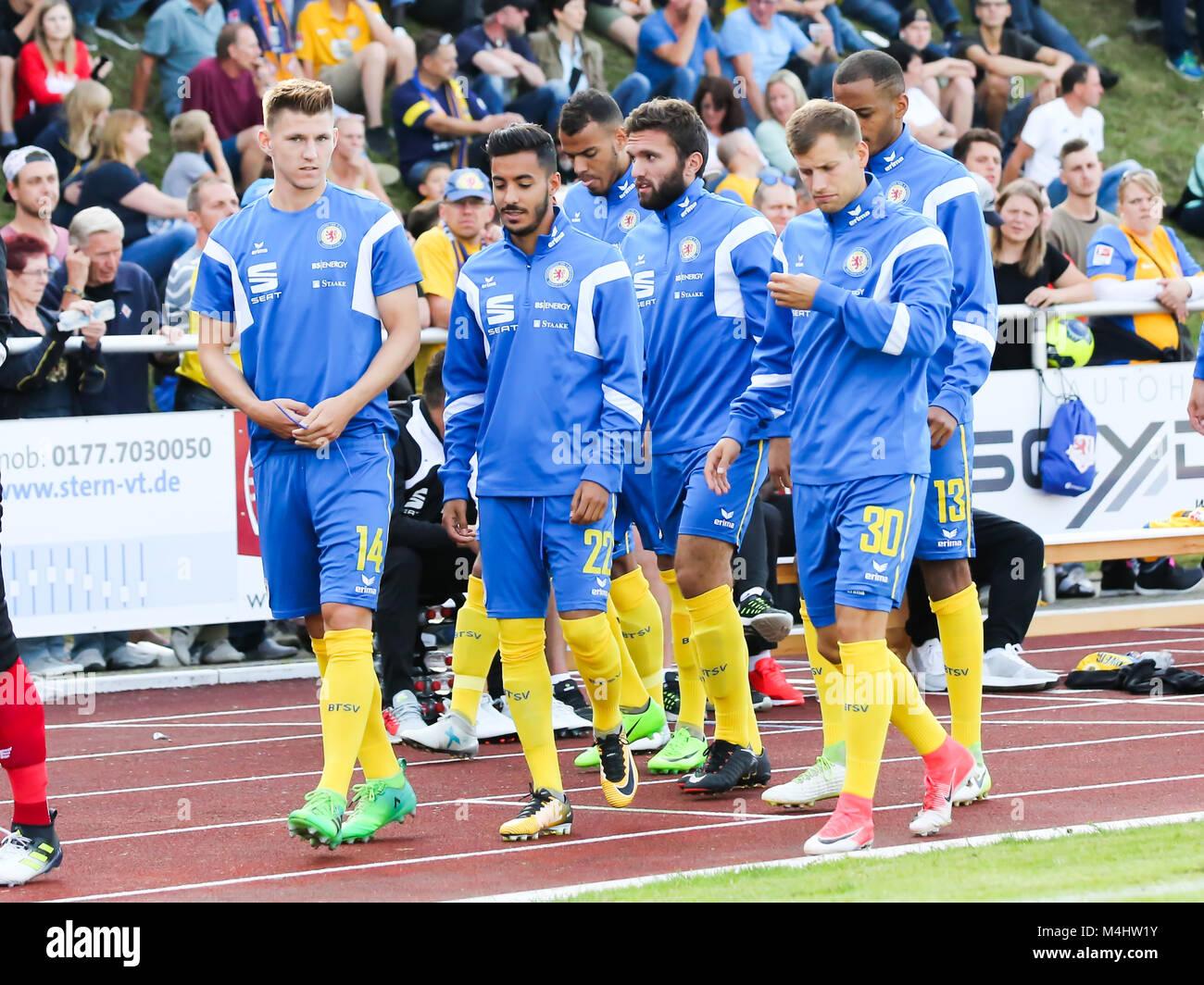 substitute Team Eintracht Braunschweig - Stock Image