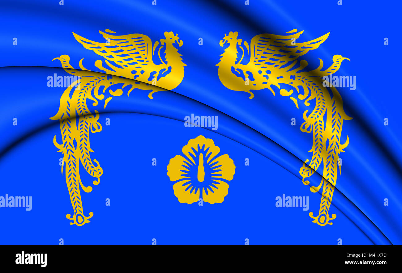 Republic of Korea Presidential Standard. 3D Illustration. Stock Photo