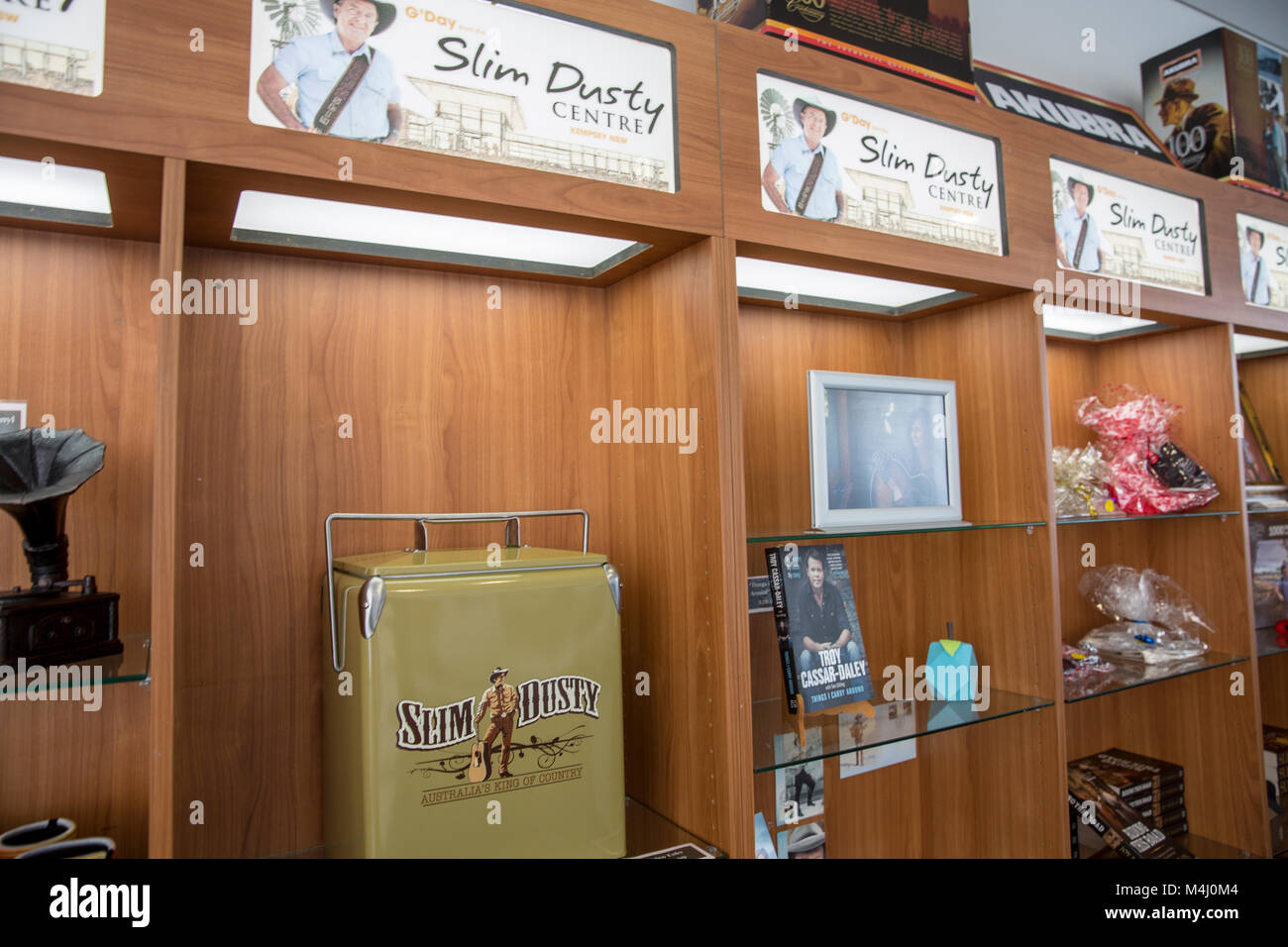Gift shop at the Slim Dusty centre in South Kempsey,New South Wales,Australia - Stock Image