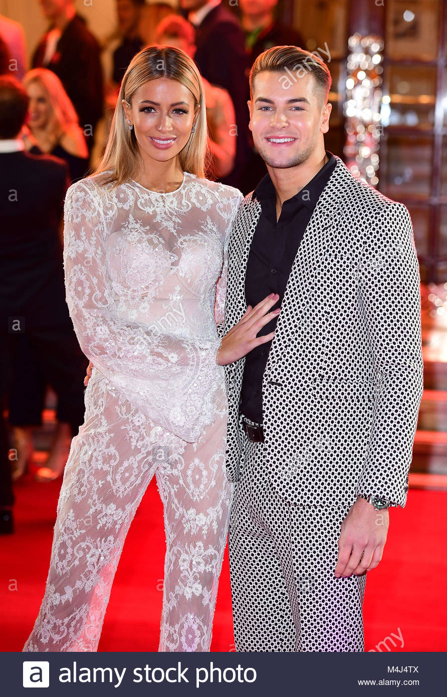 File photo dated 09/11/17 of Olivia Attwood and Chris Hughes, as Attwood has confirmed the reports that the pair - Stock Image