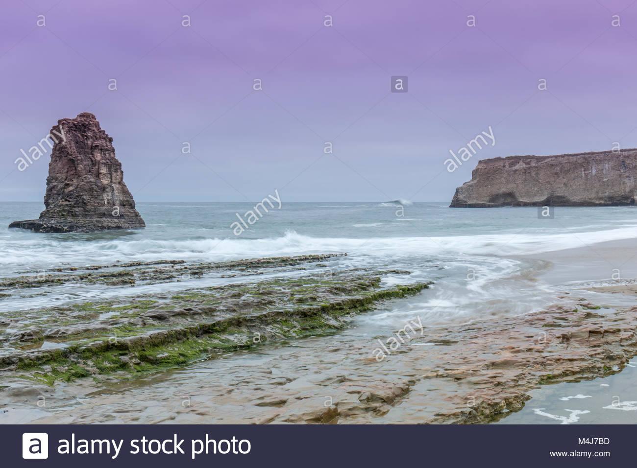 Pacific Ocean Twilight. - Stock Image