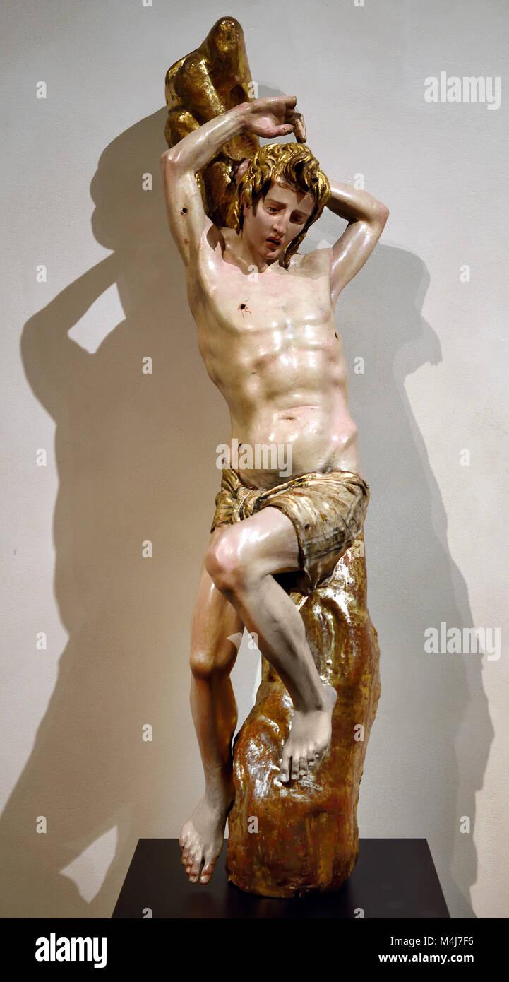 Saint Sebastian 1526-1532 Alonso Berruguette 1489-1561 master 16th century,  Spain, Spanish, ( Monastery of San Stock Photo