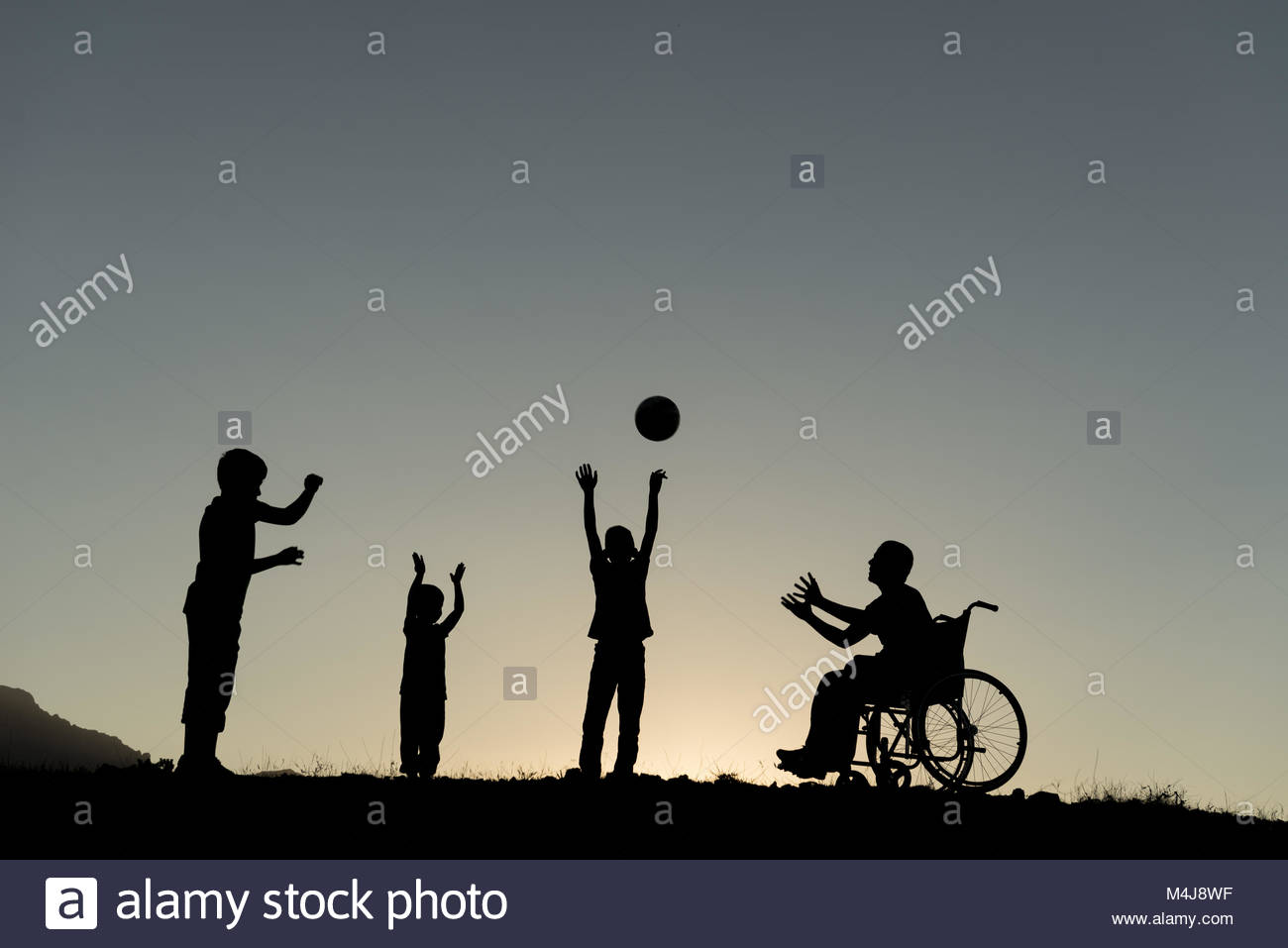 moral support to disabled people - Stock Image