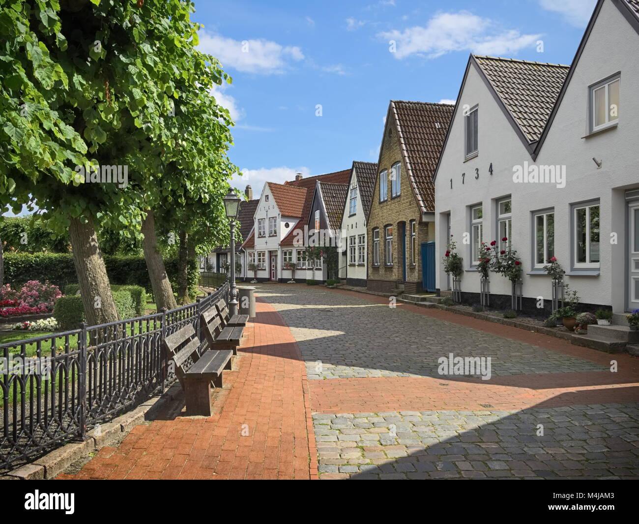 Schleswig - Fishing village Holm, Germany - Stock Image