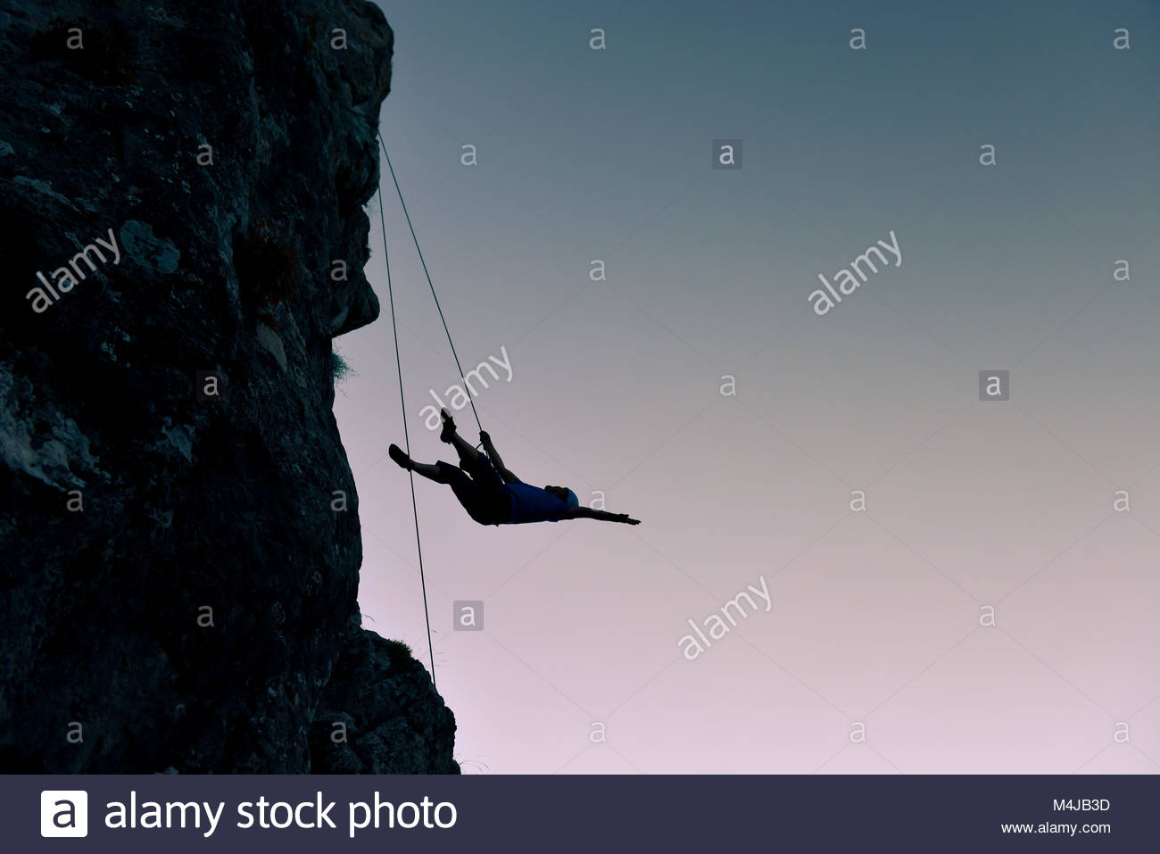 climbing mountaineering accidents - Stock Image