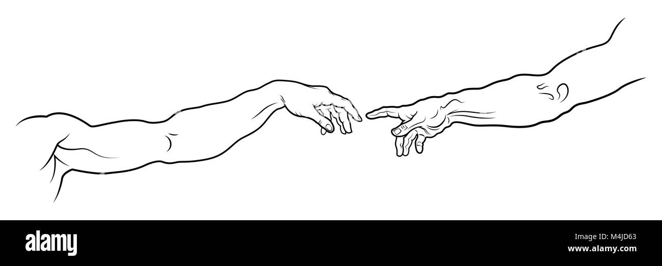 The Creation Of Adam Hands High Resolution Stock Photography And Images Alamy