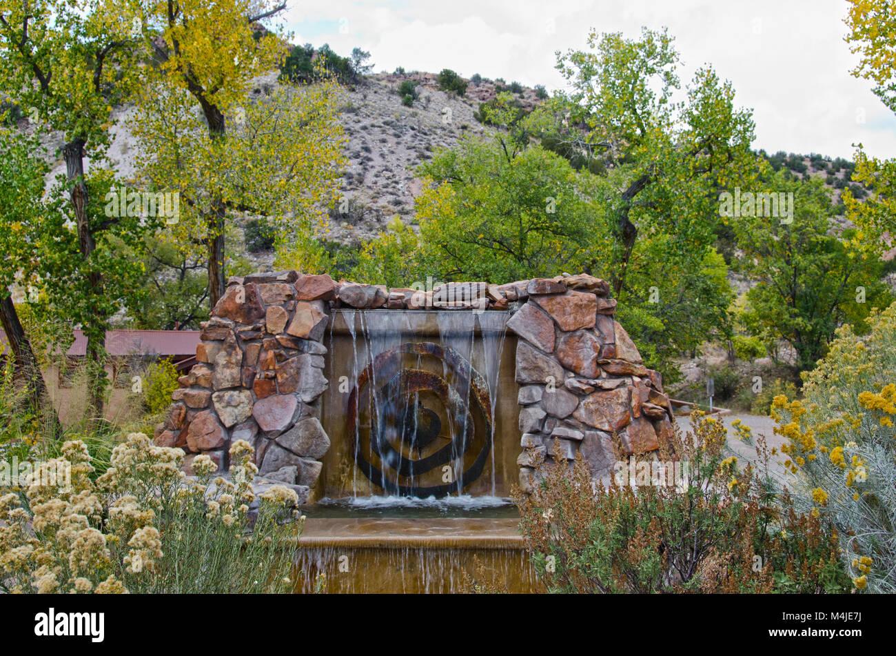 Soda Dam Hot Springs In Jemez Springs New Mexico Stock