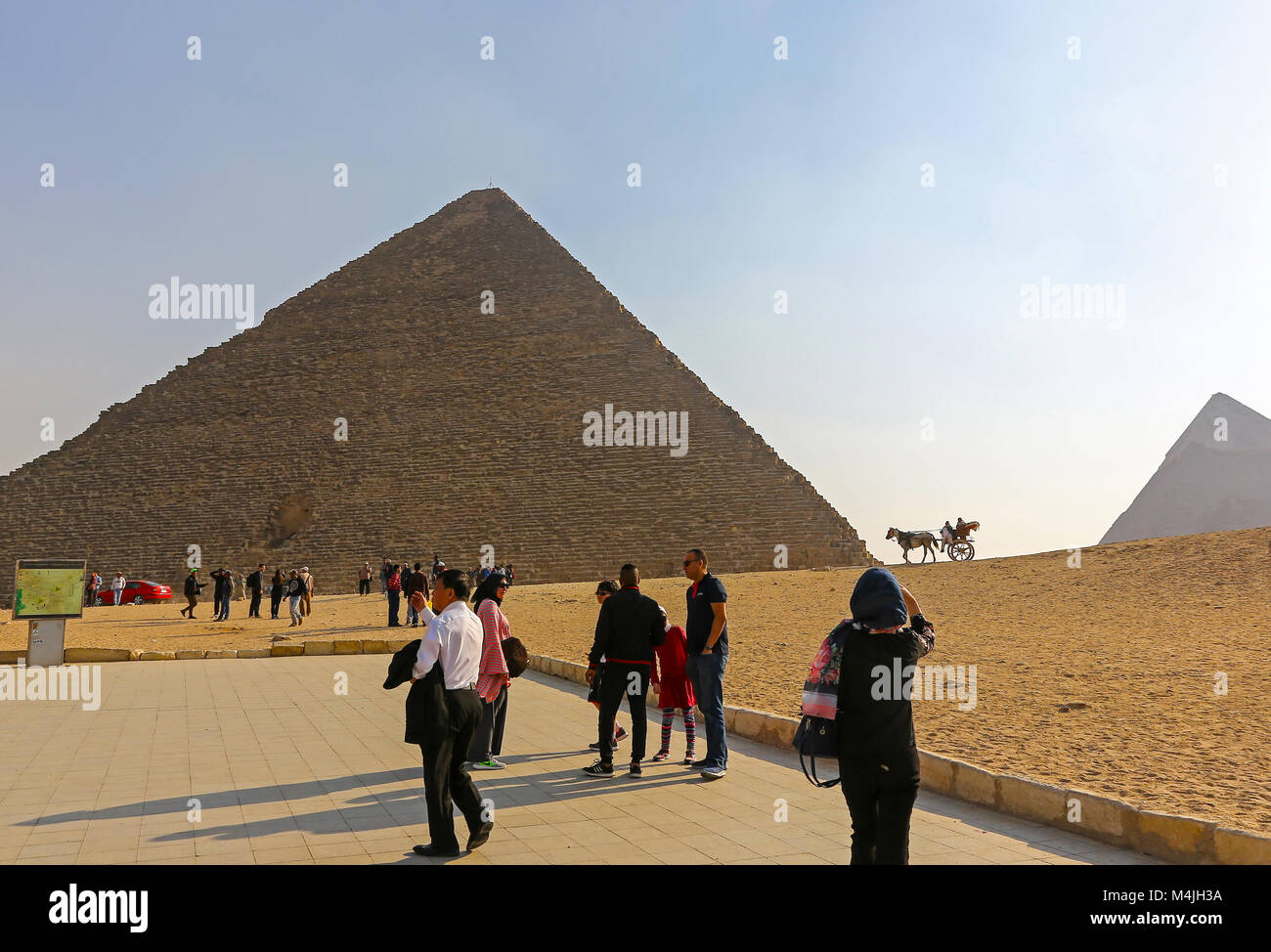 Pyramids, Giza, Egypt, North Africa - Stock Image