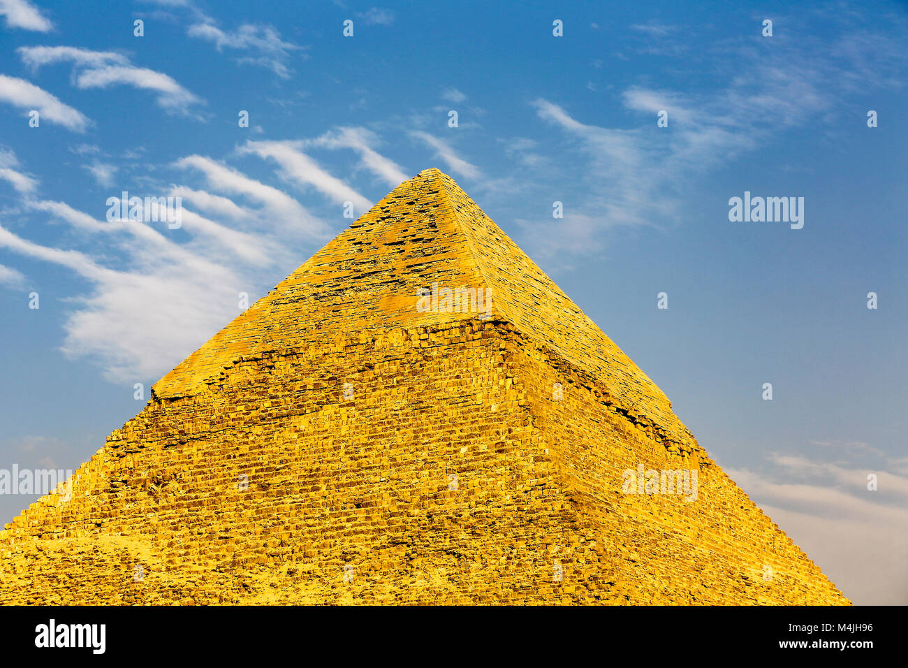 The Great Pyramid of Giza or the Pyramid of Khufu, Pyramids, Giza, Egypt, North Africa - Stock Image