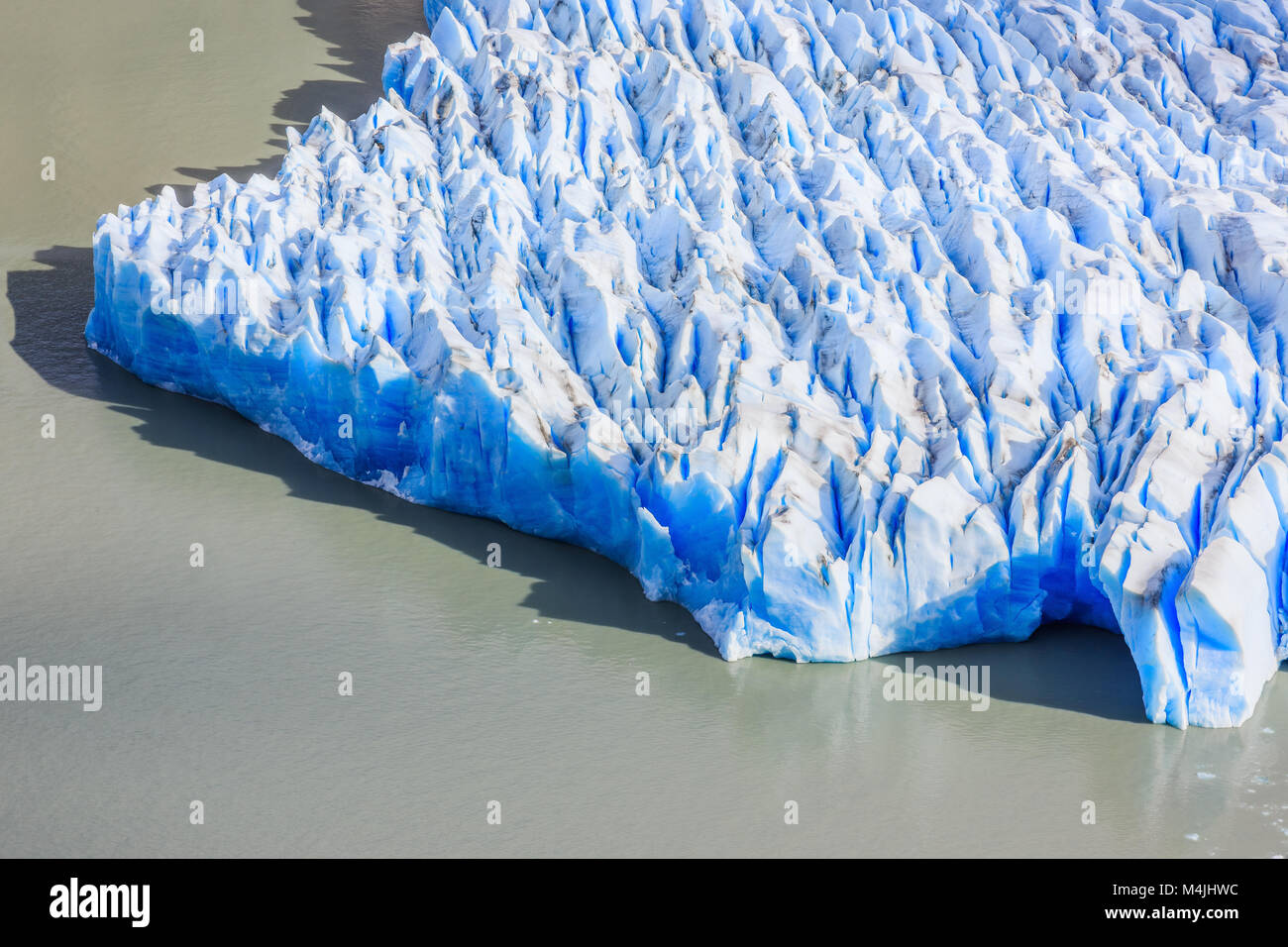 Torres Del Paine National Park, Chile. Grey glacier. - Stock Image