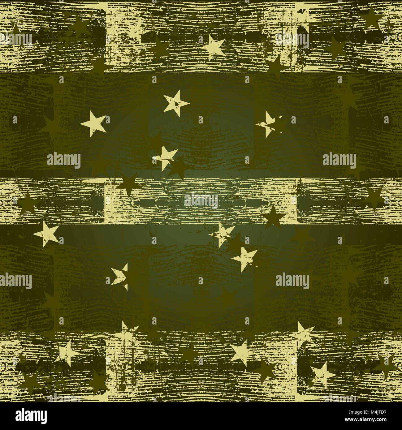 Green grunge texture with asterisks - Stock Image