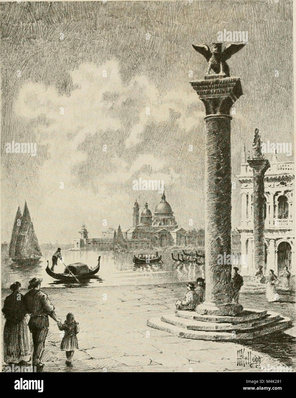 Around the clock in Europe; a travel-sequence (1912) (14777476064) Stock Photo