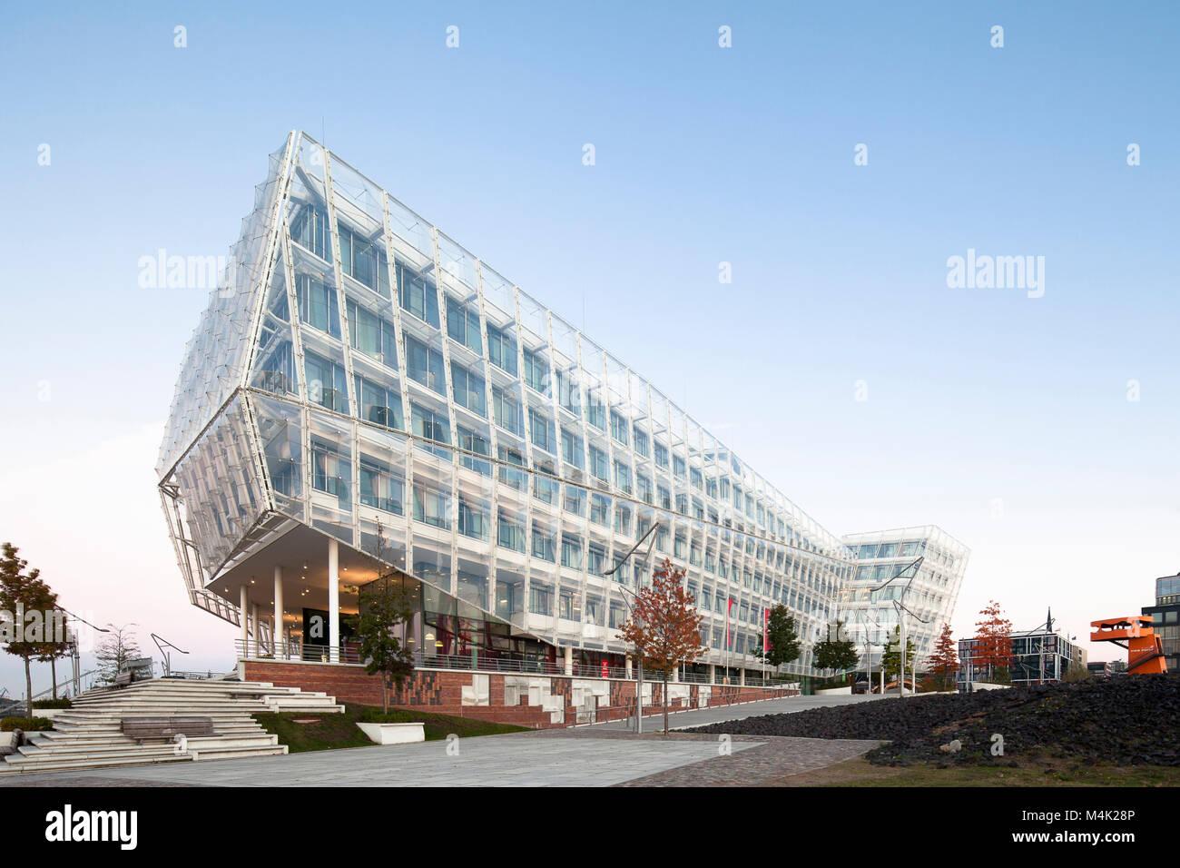 'Unilever Building', headquarter of Unilever Germany at the HafenCity Hamburg, Germany - Stock Image