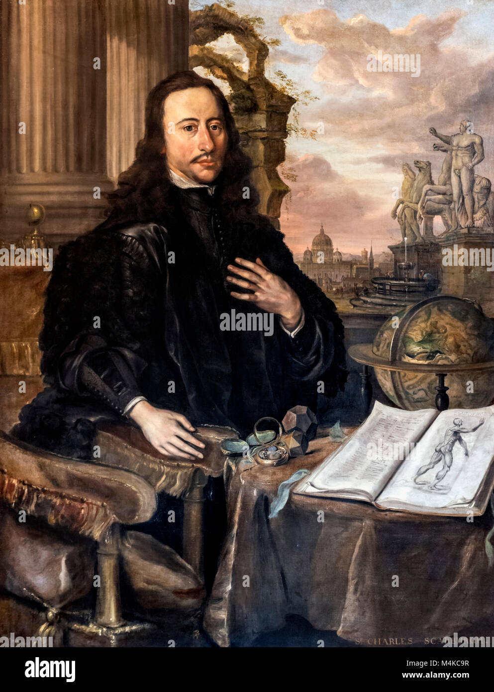 Sir Charles Scarburgh (1615-1694), chief physician to King Charles II and physician to James II and William and - Stock Image