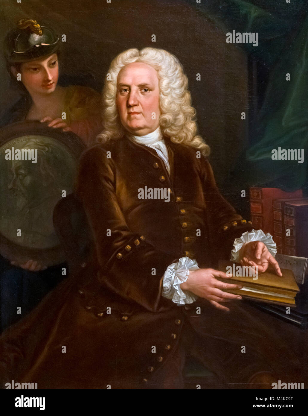 Richard Mead (1673-1754), portrait of the eminent 18th century physician by unknown artist, oil on canvas, c.1740 - Stock Image