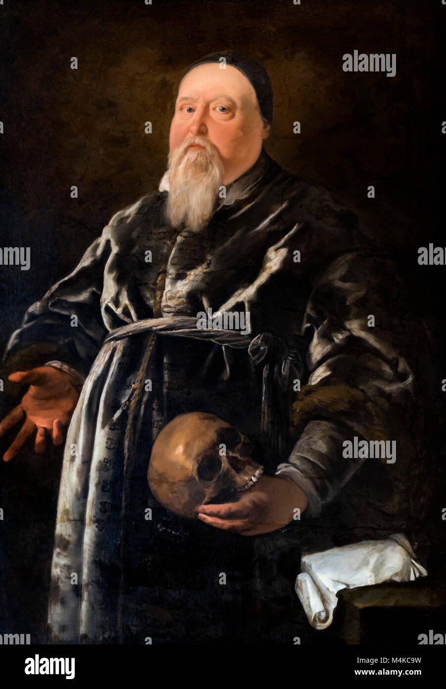 Sir Theodore de Mayerne (1573-1655), the Geneva born doctor who was principle physician to King James I, unknown - Stock Image