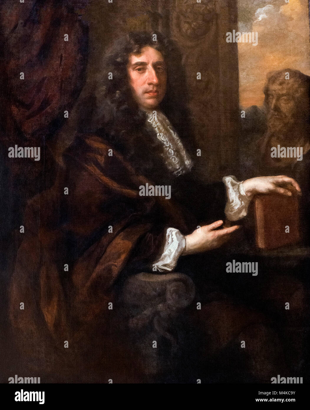 Sir Edmund King (1629-1709), portrait of the Royal physician by Sir Peter Lely, oil on canvas, 1670s - Stock Image