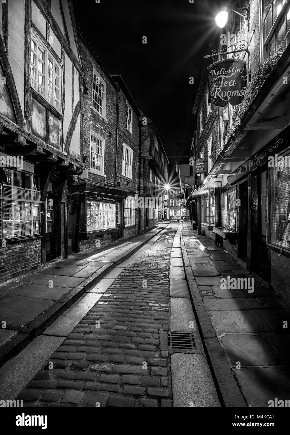 The Shambles in the ancient city of York, England - Stock Image