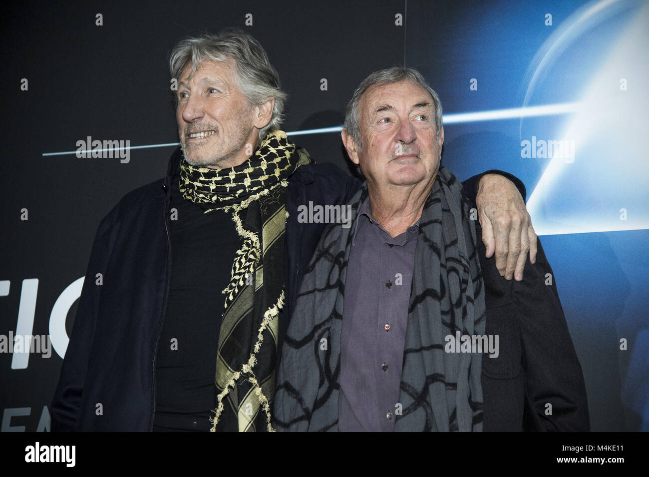 6f2b124a Pink Floyd pose for photographers before a press conference of the 'The Pink  Floyd Exhibition: Their Mortal Remains' at the MACRO Museum in Central Rome  ...