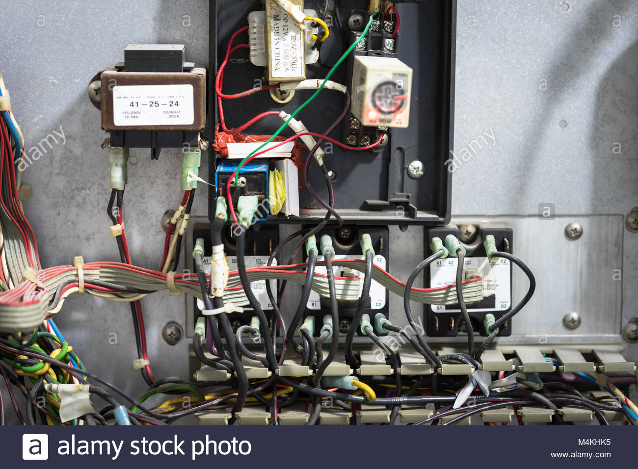 Old messy electrical panel Stock Photo: 174993257 - Alamy